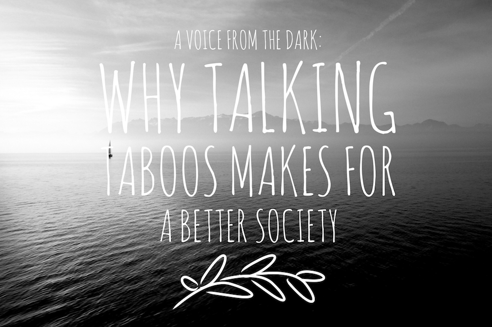 A voice from the dark: why talking taboos makes for a better society - Angela Brightwell - Funny Matters